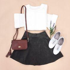 Korean Fashion Trends, Korea Fashion, Teen Fashion, Fashion Outfits, Womens Fashion, Fall Outfits, Cute Outfits, Kawaii Clothes, Korean Outfits