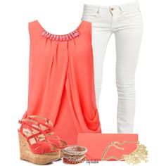 coral and white for spring