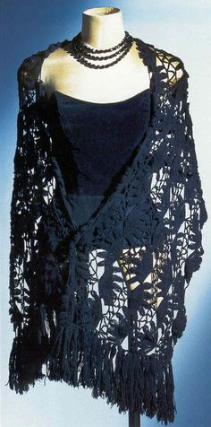 Black bustier and shawl owned by Marilyn Monroe.