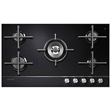 Buy Fisher & Paykel CG905DLPGB1 LPG Gas Hob, Black Glass Online at johnlewis.com