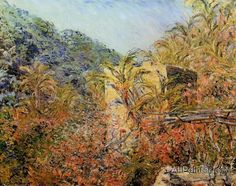 Claude Monet The Valley Of Sasso, Sunshine oil painting reproductions for sale