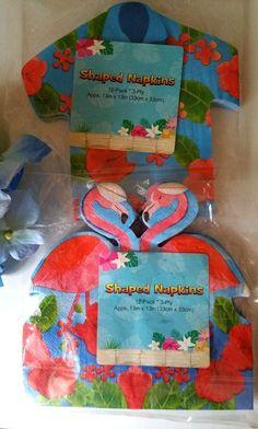 Tropical Flamingo Paper Napkins Luau Summer Party Shower 24 ct #Nantucket #LuauBeachParty