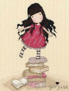 New Heights - Gorjuss Cross Stitch Kit - Bothy Threads. Want to make this for granddaughter who likes books.