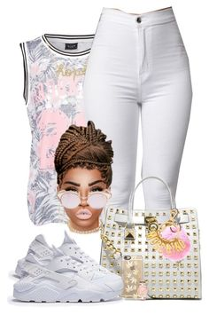 """""""Famous"""" by chiamaka-ikaraoha ❤ liked on Polyvore featuring VILA, Brooks Brothers, Sydney Evan, MICHAEL Michael Kors, Le Specs, Moschino, Casetify and Michael Kors"""