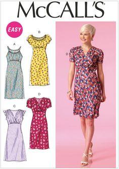 Misses Dresses McCalls Sewing Pattern No. 7116.