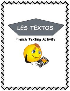 Teach parts of speech and sentence structure in French using texting. A great reading and writing activity that fits into the CEFR. Ap French, Core French, French Teaching Resources, Teaching French, French Practice, Learn To Speak French, Ontario Curriculum, French Grammar, French Expressions