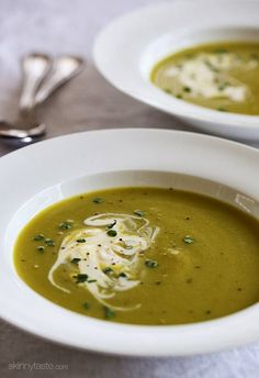 A delicious, light and creamy asparagus soup.