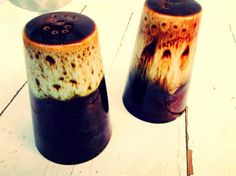 Vintage Rustic Farmhouse Style Drip Glaze Brown & by JunctionARow