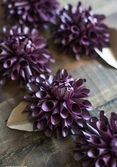 Lia Griffith's DIY Paper Dahlia are beyond gorgeous!