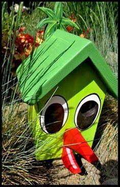 Houten nestkastjes - met toevoeging, Vogel, groen, parkiet
