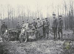 "Unlike the WLA's which would be used exclusively as dispatch motorcycles in WWII, the motorcycles of WWI saw action on the front lines. Motorcycles were outfitted with various sidecar mounted machine guns and placed together in motorized units called ""Motor Mobile Infantry"". They were also converted into ambulances, able to carry one or two wounded soldiers on stretchers adapted to sidecar frames."