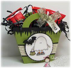 Halloween Treat Box by Sheri Gilson (Lori Boyd, Papertrey Ink)