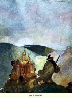 Grimms Märchenschatz' with 32 pictures by Gustaf Tenggren. Published 1923 by Verlagsanstalt Hermann Klemm, Berlin