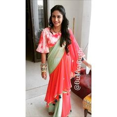 Anika from Ishqbaaz, saree styles. Fashion trends from Anika Ishqbaaz