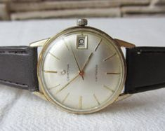 Rare Swiss Made Watch Certina Gold Plated Working Men's Watch Reto watch Collectible Watch Swiss Watch Old Vintage watch Gold Watch by TedDiscovery on Etsy Casual Watches, Watches For Men, Men's Watches, Swiss Made Watches, Apple Watch Bands, Luxury Watches, Vintage Watches, Gold Watch, Omega Watch