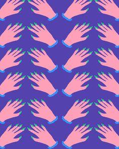 Hand Pattern, via BOUFFANTS & BROKEN HEARTS.