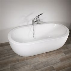 freestanding tub with faucet holes. SanSiro  Water Jetted Acrylic Whirlpool Tub and Faucet Package with Stone Look Exterior Shell 60 Erion Freestanding Slipper Overflow No Holes