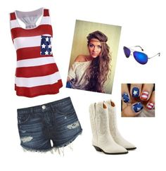 """Party In The USA"" by backwoodsbeautyqueen94 on Polyvore featuring 3x1, Étoile Isabel Marant and Maui Jim"