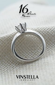 Vinstella, 16 hearts and arrows, ring, jewellery, diamond cut