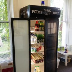 dr who tardis fridge wrap
