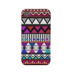 Red  Pink Tribal Pattern iPhone 4\ 4S Case-Mate Ca from Zazzle.com