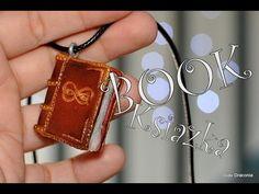 Charm: książka z modeliny / Polymer clay book charm [TUTORIAL]