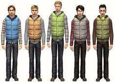 Mod The Sims - Winter Cowboys  - Outerwear