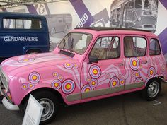 Funky Pink Renault - the French car of the 70s!