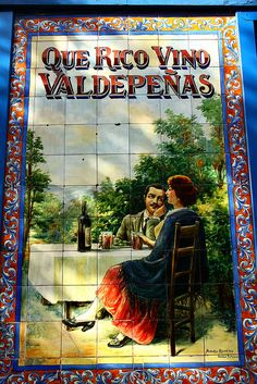 Azulejos Bodega Rosell. Calle General Lacy. Madrid by Carlos Viñas, via Flickr