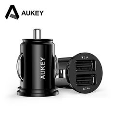 AUKEY Mini Car Charger Adapter Universal 4.8A Dual Port for iPhone 5 6s Plus for Samsung Galaxy S6 HTC M9 Nexus 6 Xiaomi Mi3 Mi4
