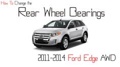 How to change the rear wheel bearing on a 2011-2014 Ford Edge AWD - http://autofixpal.com/how-to-change-the-rear-wheel-bearing-on-a-2011-2014-ford-edge-awd/ - https://youtu.be/66YI5I33fuY