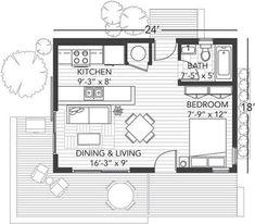 「12 x 24 cabin floor plans」の画像検索結果