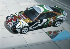 David Hockney's BMW from the BMW Art Car Collection