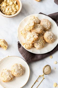 Gluten-Free Almond Cookies A recipe by It's Not Complicated Recipes. Gluten Free Cream Puffs Recipe, Gluten Free Almond Cookies, Almond Meal Cookies, Cream Puff Recipe, Gluten Free Baking, Gluten Free Recipes, Keto Recipes, Dairy Free Biscuits