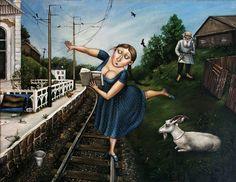 Анна Каренина и ее поезд... Или Анна - это и есть сам Лев Толстой собственной персоной!