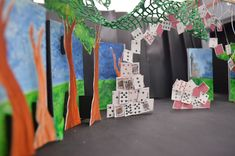 alice in wonderland school play scenery - Google Search