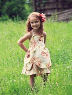Viola Dress Sewing Pattern Size 2T - 7 Years