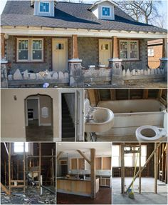 89dec9e1334f98 Amazing before and after photos! Bungalow Homes