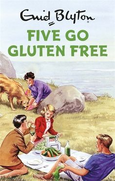 The latest set of books from your childhood to be given the parody treatment are Enid Blyton's series featuring Julian, George, Dick, Anne and Timmy the Dog. Now all grown up and living together in London, in Five Go Gluten Free, the five go on a gluten free, sugar free, fun free diet when Anne is gifted a recipe book and a spiraliser, and hijinks ensue.