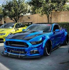 Best Sports Cars : Ford Mustang Modified Slammed Chrome Blue Mustang GT www. Ford Mustang Gt, Blue Mustang, Mustang Cars, Ford Gt, Mustang Tuning, Us Cars, Sport Cars, Modern Muscle Cars, Audi