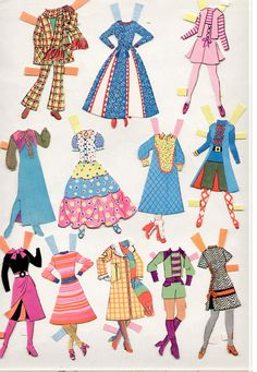 Vintage Whitman/Topper DAWN AND HER FRIENDS paper dolls 1972 cut/Nice! | eBay Vintage Paper, Vintage Toys, Dawn Paper, Dawn Dolls, Barbie, Dress Up Dolls, Printable Paper, 70s Fashion, Beautiful Dolls