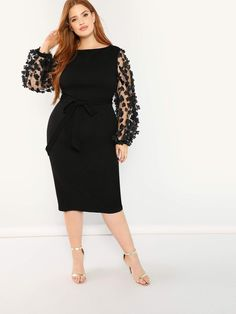 Plus Size Women Long Sleeve Lace Formal Dress Evening Cocktail Bridesmaid Dress Bodycon Dress Formal, Maxi Dress With Slit, Sheer Dress, Gown Dress, Occasion Maxi Dresses, Evening Dresses, Dressy Dresses, Long Dresses, Party Dresses