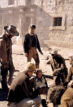 THE ALAMO - Director John Wayne sets up a scene for a shot on location near Brackettville, Texas. Alamo Movie, I Movie, Movie Stars, Movie List, Iconic Movies, Old Movies, Great Movies, Mexican American War