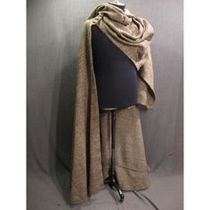 tan cloak ❤ liked on Polyvore featuring cloak