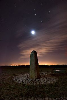 Lunar Eclipse, Hill of Tara, County Meath, Leinster, Ireland