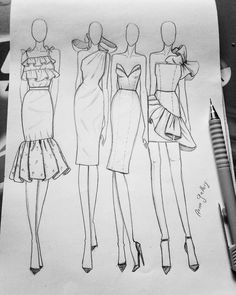 Discover recipes, home ideas, style inspiration and other ideas to try. Fashion Drawing Tutorial, Fashion Figure Drawing, Fashion Illustration Tutorial, Fashion Model Drawing, Fashion Drawing Dresses, Fashion Illustration Dresses, Dress Design Drawing, Dress Design Sketches, Fashion Design Sketchbook