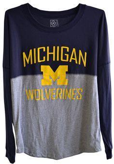 Michigan Wolverines Womens Long Sleeve Gameday Jersey Tee http://www.rallyhouse.com/shop/-16170092?utm_source=pinterest&utm_medium=social&utm_campaign=Pinterest-MichWolverines $39.99