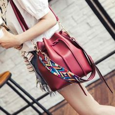 Buy Bag Affair Faux Leather Bucket Bag at YesStyle.com! Quality products at remarkable prices. FREE WORLDWIDE SHIPPING on orders over Mex$650.