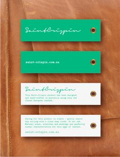 St Crispin swing tags by elkemo