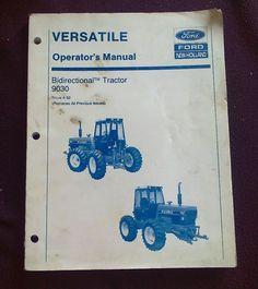 Versatile new holland 256 276 276 ii tractor service shop repair versatile new holland 9030 operators manual bidirectional tractor book 4 92 fandeluxe Gallery